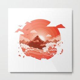 Red dusk Metal Print