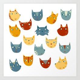 Many Cats Art Print