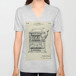 Cabinet for Coin Controlled Apparatus-1932 Unisex V-Neck