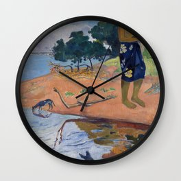 Haere Pape by Paul Gauguin Wall Clock