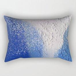 Splatter-Blue Rectangular Pillow