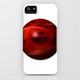 Red Fire Sphere iPhone Case