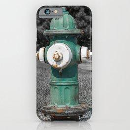 Mueller Super Centurion Green Bonnet and Barrel with White Caps iPhone Case