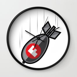 F Bomb Wall Clock