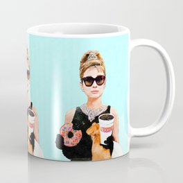 Breakfast at Dunkin Donuts - Audrey Hepburn Coffee Mug