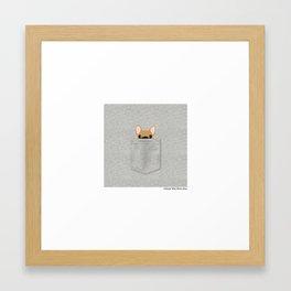 Pocket French Bulldog - Fawn Framed Art Print