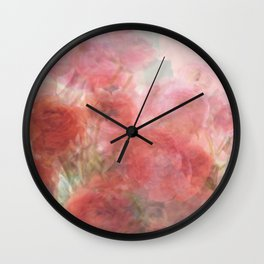 Watercolor Ranunculus Wall Clock