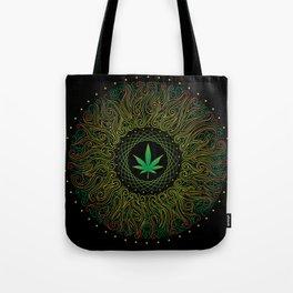 Magic plant. Marijuana leaf. mandala Tote Bag