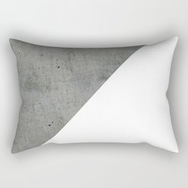 Concrete Vs White Rectangular Pillow