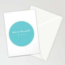 Take on the world Stationery Cards