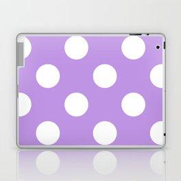 Large Polka Dots - White on Light Violet Laptop & iPad Skin