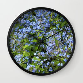 Forget-me-not! Wall Clock