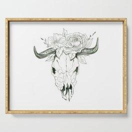 Bull Skull Serving Tray