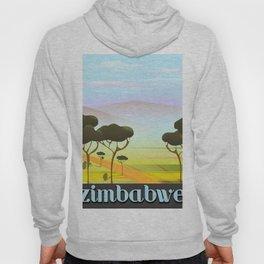 Zimbabwe landscape travel poster Hoody