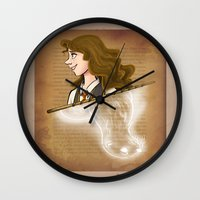 hermione Wall Clocks featuring Hermione Granger by Imaginative Ink