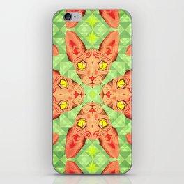 Sphynx Cat Pattern iPhone Skin