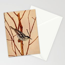 Neltje Blanchan - Bird Neighbours (1903) - Black and White Creeping Warbler Stationery Cards