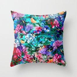 RPE Seamless Floral & Birds IV Throw Pillow