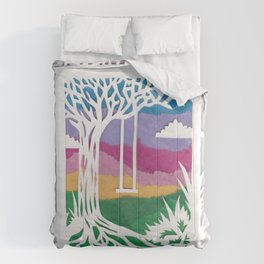 Sunset Swing Papercut Comforters
