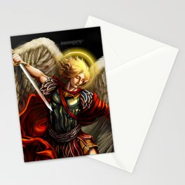Saint Michael Archangel against the Devil Stationery Cards