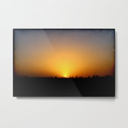 Sunset 032417 Abilene, Texas Metal Print