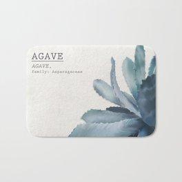 Agave, botanic print - grey Bath Mat