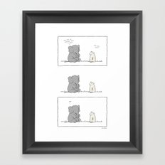 An Elephant Almost Never Forgets  Framed Art Print