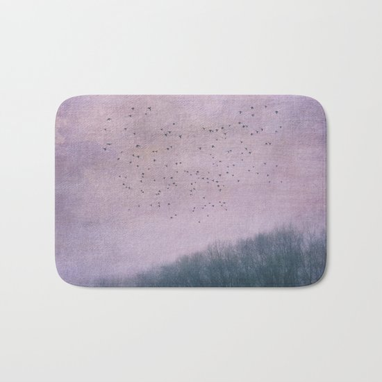 over the Heart of the Forest Bath Mat