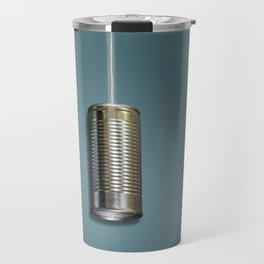 Vintage Tin Can Phone Travel Mug