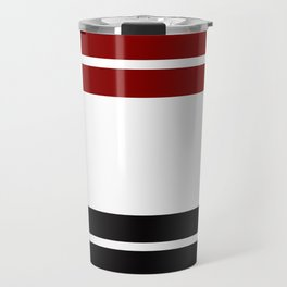 TEAM COLORS 9 .... Maroon, black and white Travel Mug