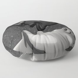 Ying-Yang Kiss Floor Pillow