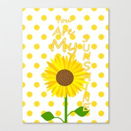 Inspired Sunshine Quote Canvas Print