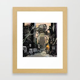 Martian attack Framed Art Print