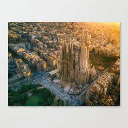 Scale of Sagrada Familia Canvas Print