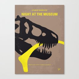 No672 My Night at the Museum minimal movie poster Canvas Print