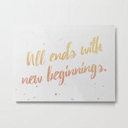 New Beginnings Metal Print