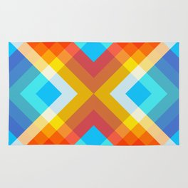Abstract Retro Pattern 10 Rug