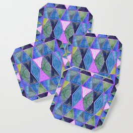 Patterned Mosaic Triangles Coaster