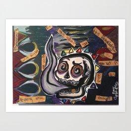 itfellapartintosmoke Art Print