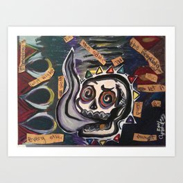 itfellapartintosmoke Art Print