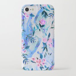 Floral Marble Swirl iPhone Case