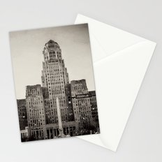 Down Town Buffalo NY city hall Stationery Cards