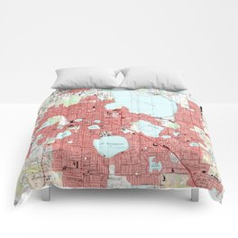 Lakeland Florida Map (1994) Comforters