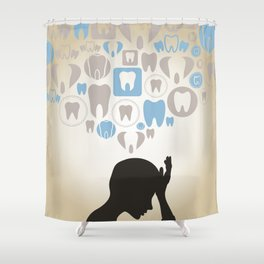 Toothache Shower Curtain