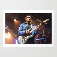 weezer Art Prints featuring Weezer by Adam Pulicicchio Photography