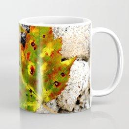 Leaves in Gray Coffee Mug