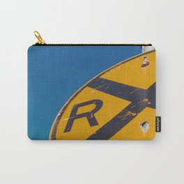 Railroad Sign-Film Camera Carry-All Pouch