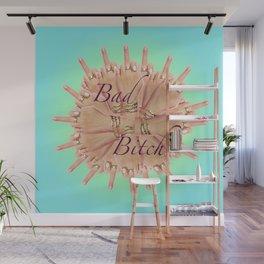 Bad Bitch - azure Wall Mural