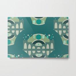 Mystical Moon Palace in Jade Metal Print
