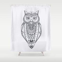 O W L - B&W Shower Curtain